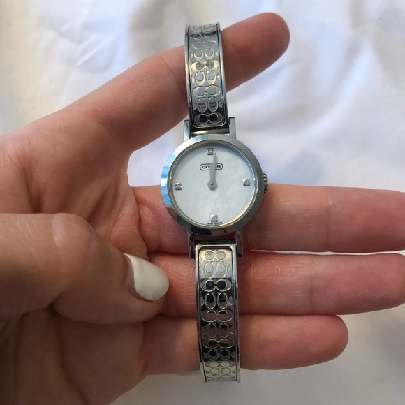 Coach Stainless Steel Diamond Etched Watch